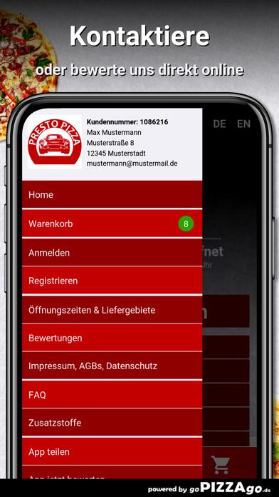 Presto Pizza Service Augsburg screenshot 3