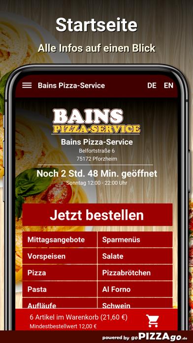 Bains Pizza-Service Pforzheim screenshot 2
