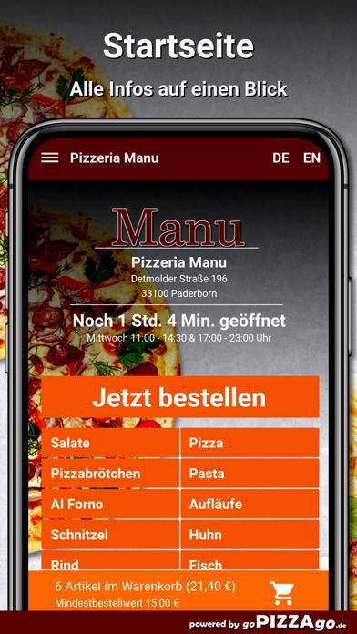 Pizzeria Manu Paderborn screenshot 2