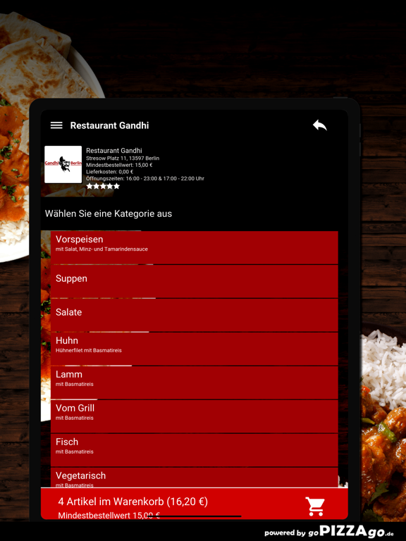 Restaurant Gandhi Berlin screenshot 8