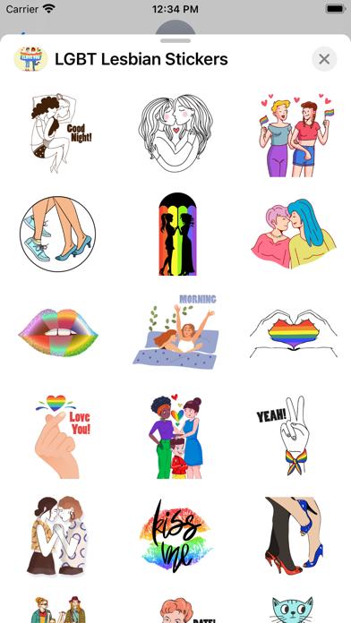 LGBT Lesbian Stickers screenshot 2