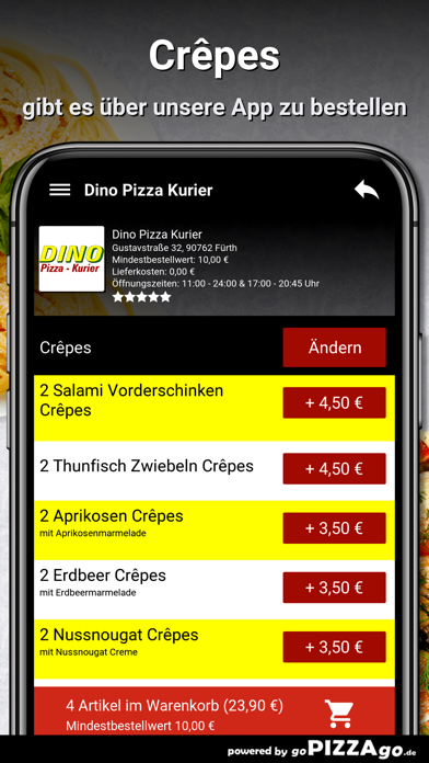 Dino Pizza Kurier Fürth screenshot 5