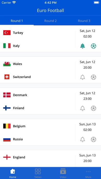 Euro Football App