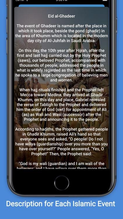 Shia+: Adhan, Calendar, Qibla screenshot-5