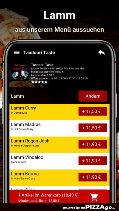 Tandoori Taste Frankfurt screenshot 5