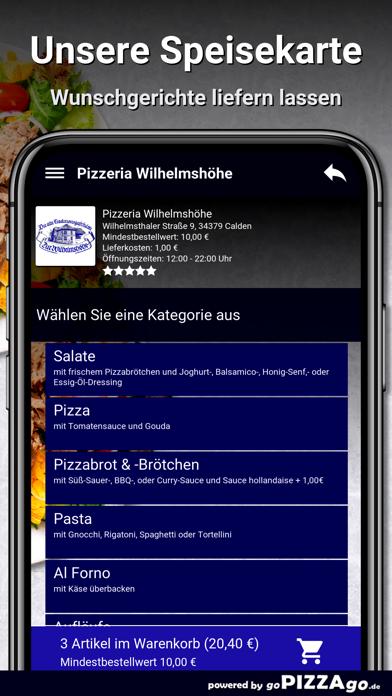 Pizzeria Wilhelmshöhe Calden screenshot 4