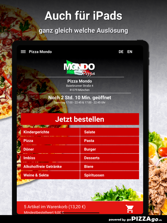 Pizza Mondo München screenshot 8