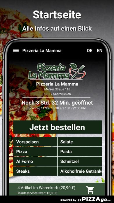 Pizzeria-La Mamma Saarbrücken screenshot 2