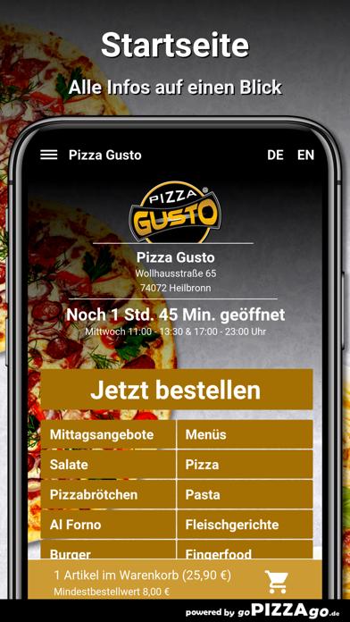Pizza Gusto Heilbronn screenshot 2