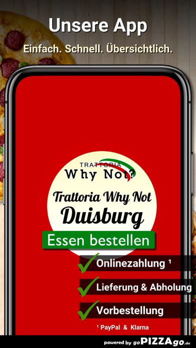 Trattoria Why Not? Duisburg screenshot 1