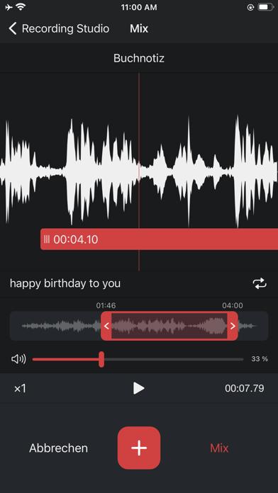 Diktiergerät Pro, Aufnahme-AppScreenshot von 5