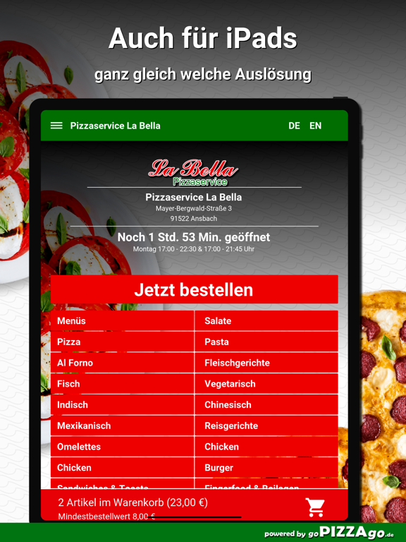 Pizzaservice La Bella Ansbach screenshot 7