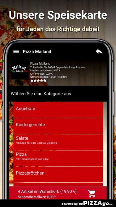 Pizza Mailand Eggenstein-Leopo screenshot 1
