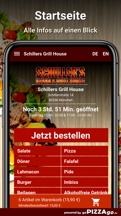 Schillers Grill House München screenshot 2