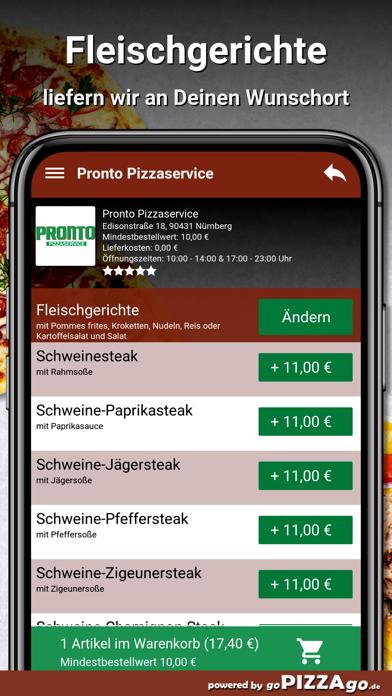 Pronto Pizzaservice Nürnberg screenshot 6