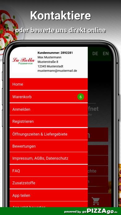 Pizzaservice La Bella Ansbach screenshot 3