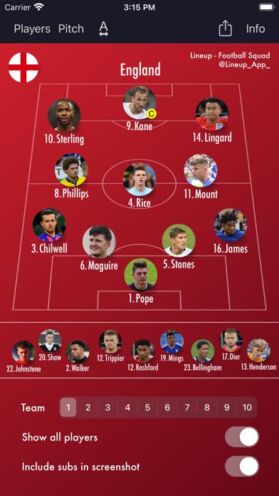 Lineup - Football Squadのおすすめ画像4