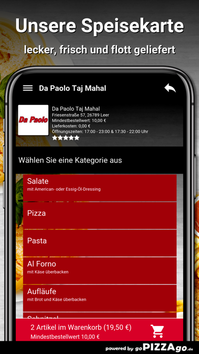 Da Paolo Taj Mahal Leer screenshot 4