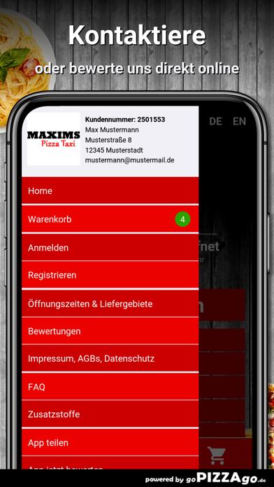 Pizza Taxi Maxims Rösrath screenshot 3