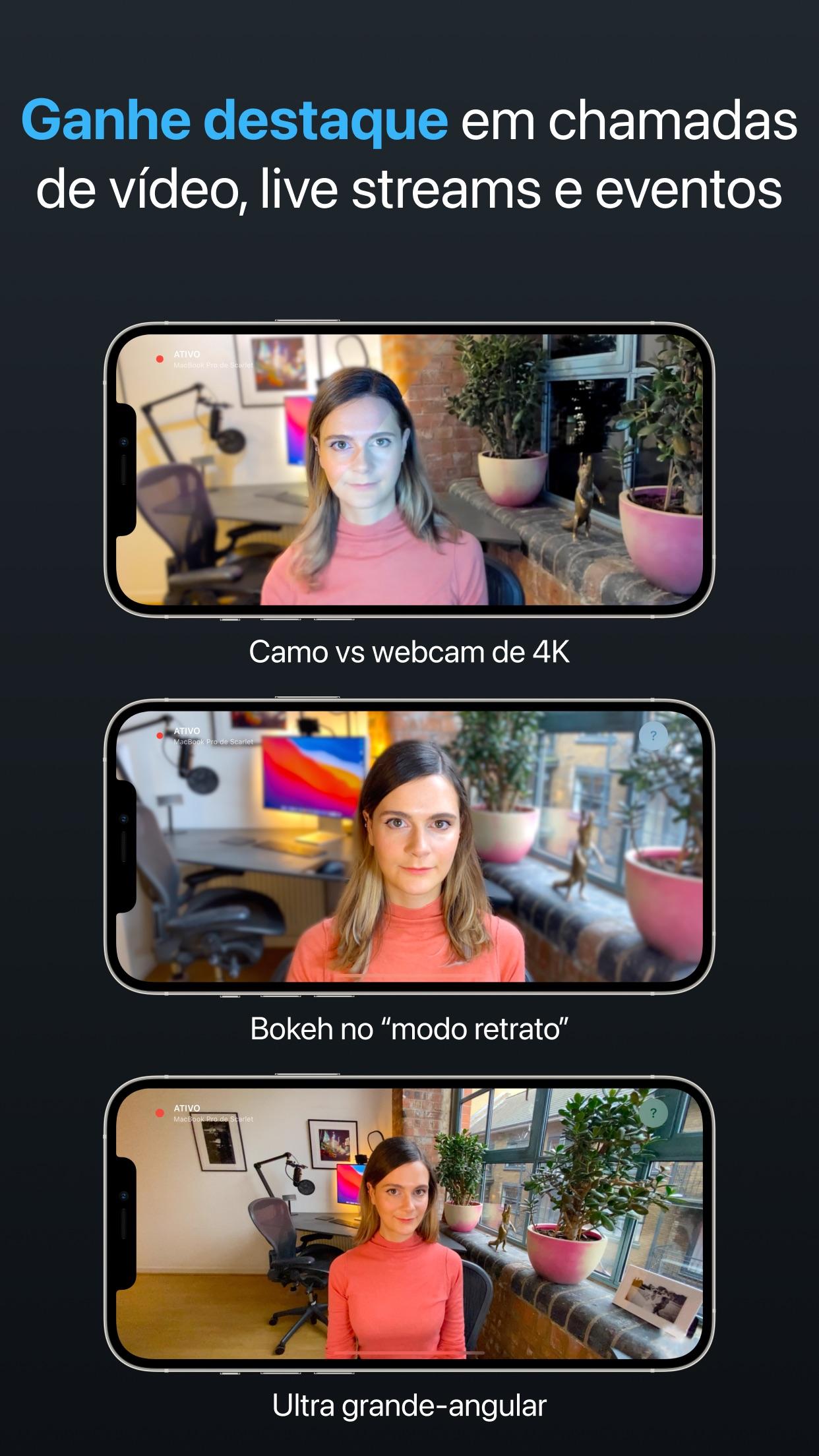Screenshot do app Camo – webcam para Mac e PC