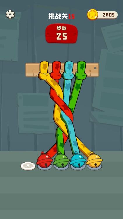 彩绳排序3D版-绳索大师解解乐