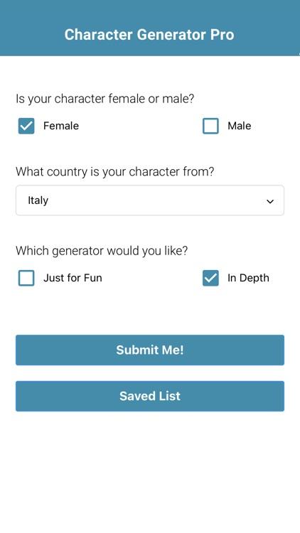 Character Generator Pro
