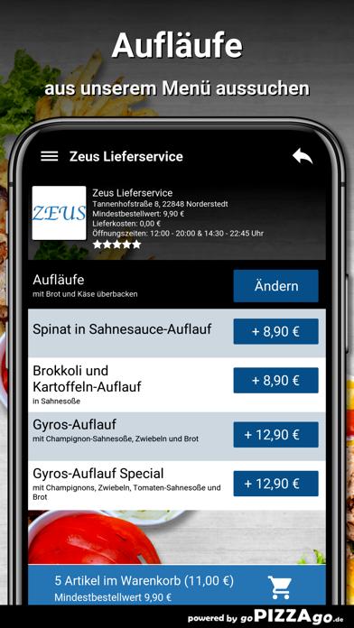 Zeus Lieferservice Norderstedt screenshot 5