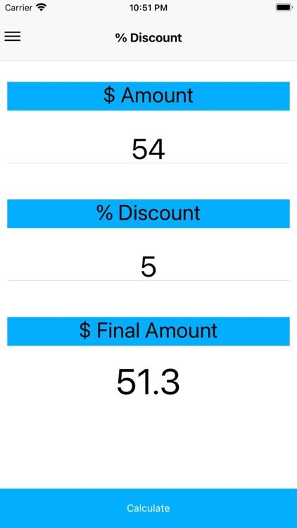A discount calculator