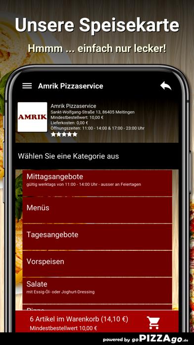 Amrik Pizzaservice Meitingen screenshot 4