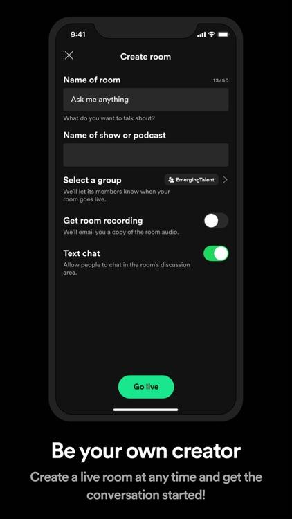 Spotify Greenroom - Talk Live screenshot-4