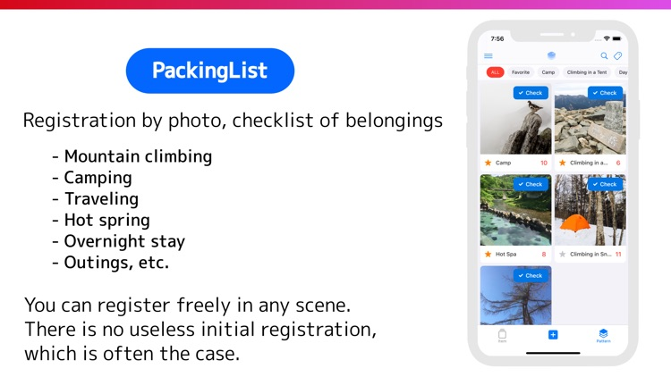 PackingList - Item and Pattern