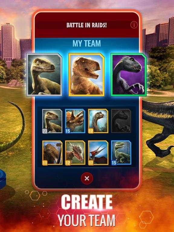 Jurassic World Alive iPad app afbeelding 2