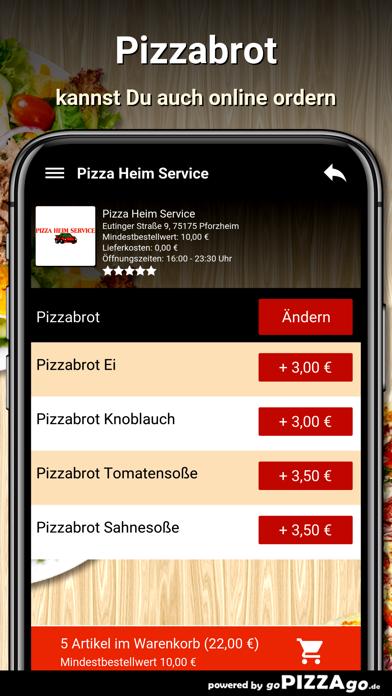 Pizza Heim Service Pforzheim screenshot 5