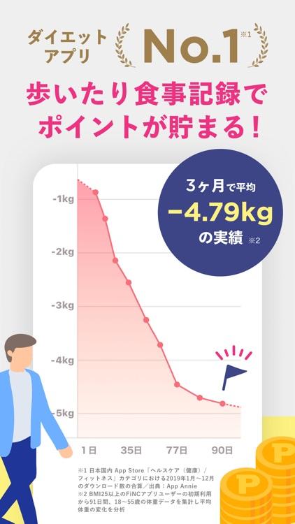 FiNC ダイエットのための体重管理やカロリー計算アプリ