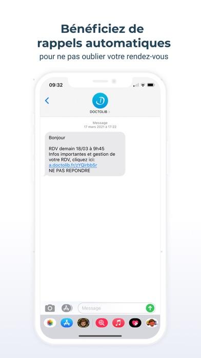 Doctolib iphone captures décran