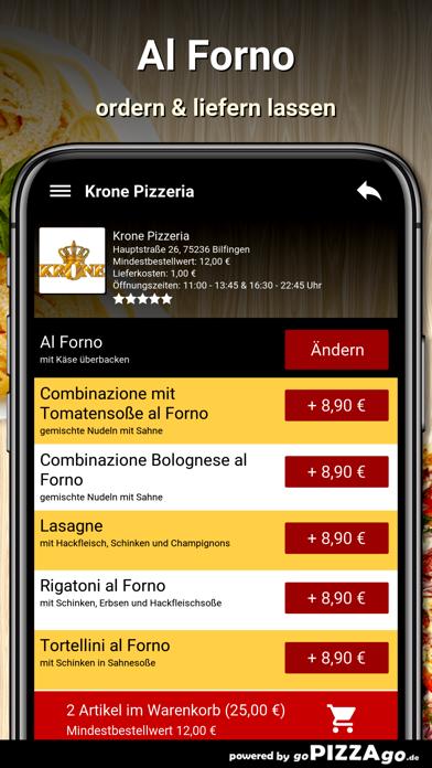 Krone Pizzeria Bilfingen screenshot 6