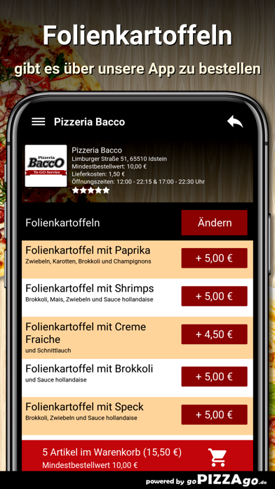 Pizzeria Bacco Idstein screenshot 6