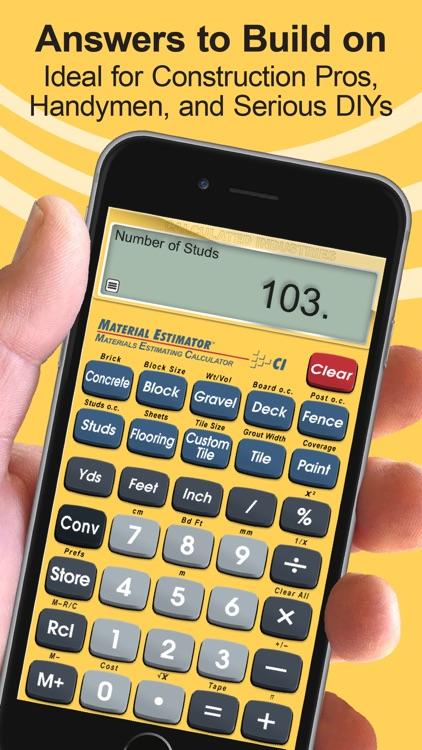 Material Estimator Calculator screenshot-3