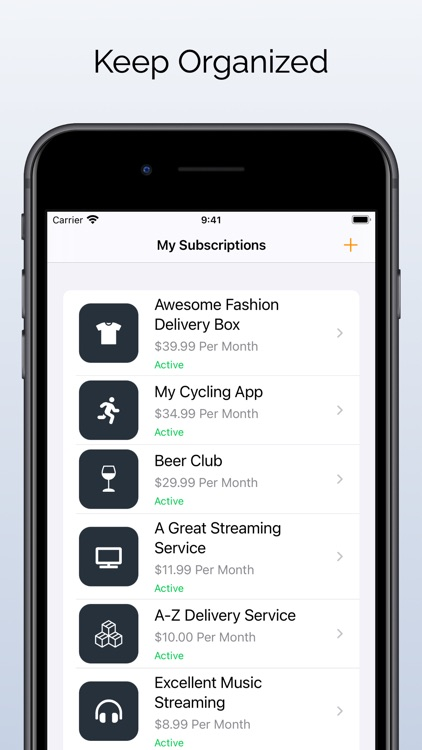 Daxal - Subscription Tracking