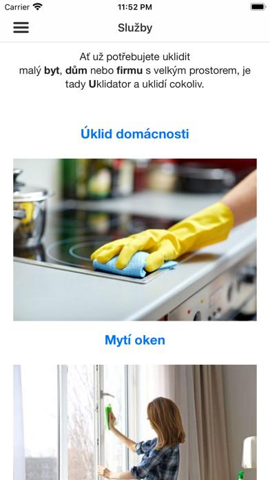 Uklidator.cz screenshot 3