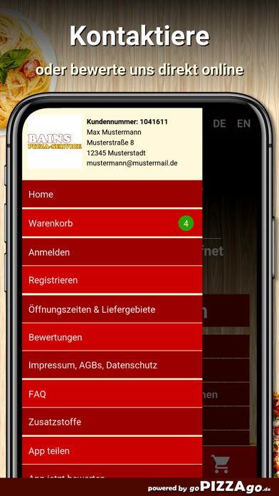 Bains Pizza-Service Pforzheim screenshot 3