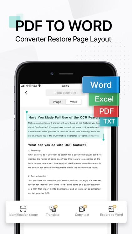 CamScanner-PDF Scanner App screenshot-7