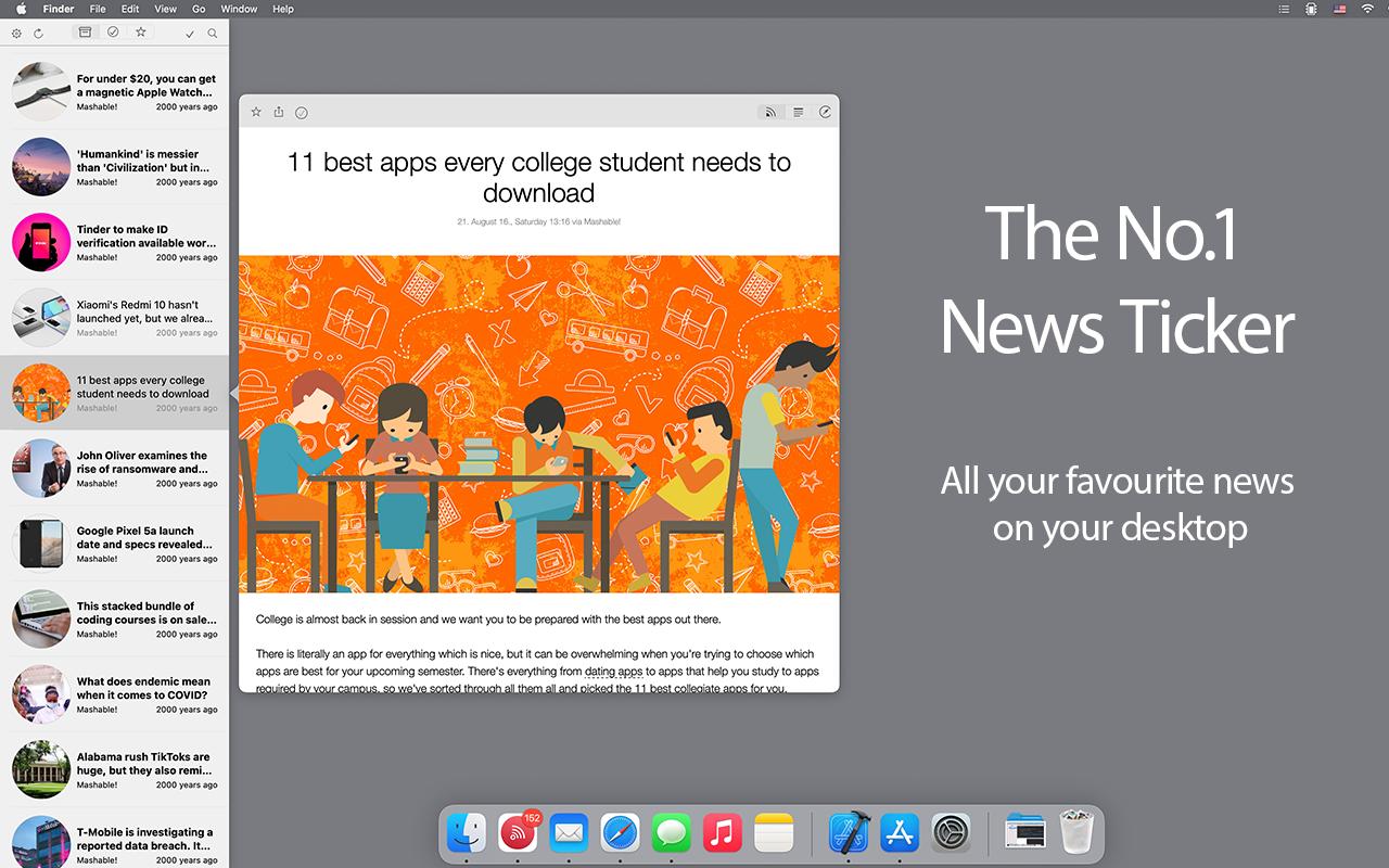 Newsflow 1.5 Mac 破解版 首屈一指的新闻收录器