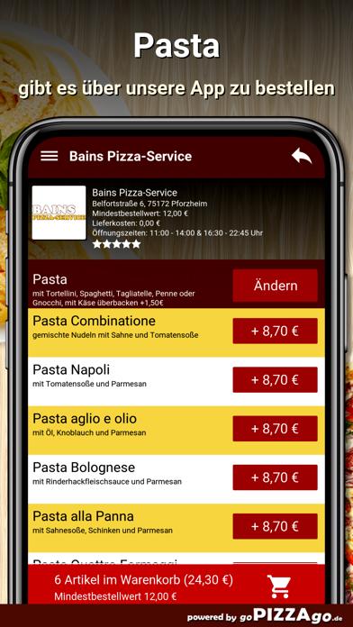Bains Pizza-Service Pforzheim screenshot 6