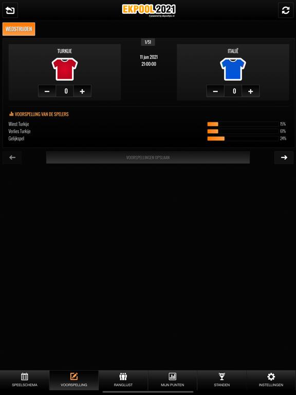 EK Pool 2020 iPad app afbeelding 7