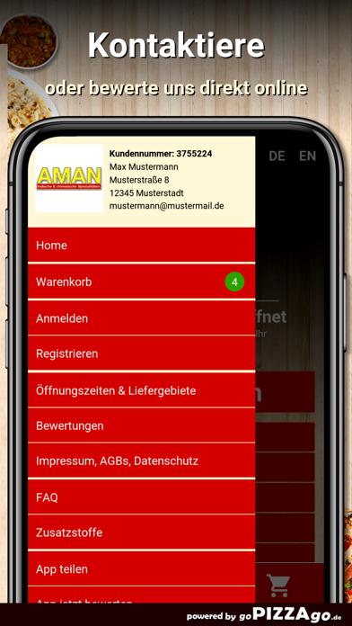Aman Restaurant Hainburg screenshot 2