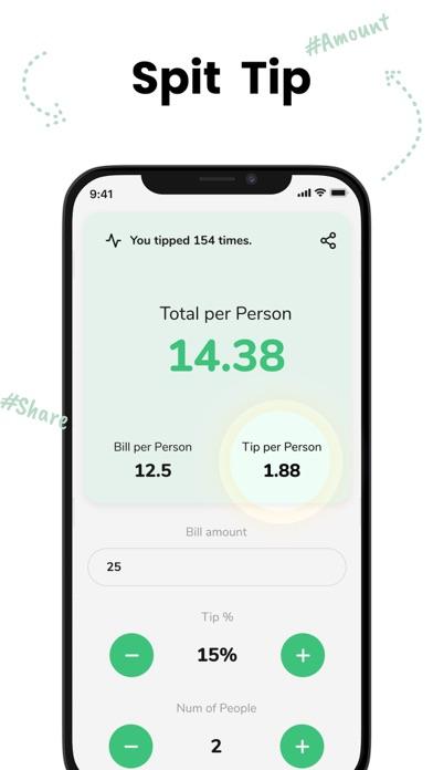 Tip - Calculator & Bill split screenshot 2
