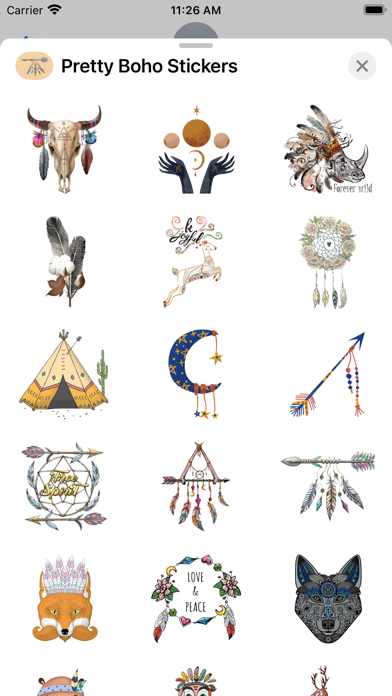 Pretty Boho Stickers screenshot 2