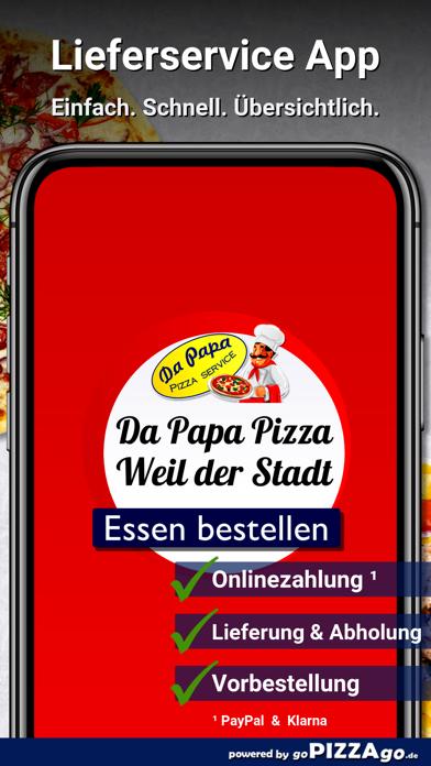 Da Papa Pizza Weil der Stadt screenshot 1