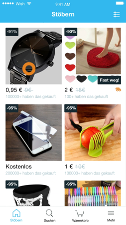 Wish smart shoppen und sparen